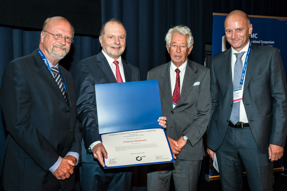Prof. Diederich receives the Nauta Award during the XXIV International Symposium on Medicinal Chemistry (EFMC-ISMC)