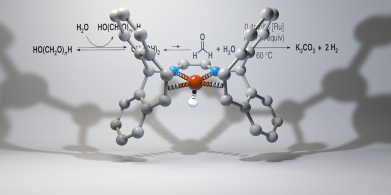 Prof. Dr. Grützmacher's catalyst for hydrogen storage in formaldehyde