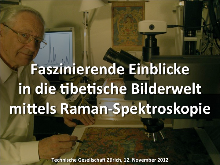 "Powerpoint presentation download of ""Fascinating insights into the Tibetan imagery using Raman spectroscopy"" (German)"